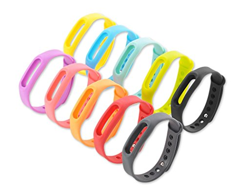 BEST OF SOURCE Set of 10 Pcs Colorful Replacement Bands Compatible with Go-tcha, Xiaomi Mi/1S Tracker Smart Bracelet