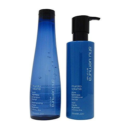 10 Oz Pure Volume Shampoo (Bundle - 2 items: Shu Uemura Muroto Volume Pure Lightness Shampoo, 10 Oz & Volume Pure Lightness Conditioner, 8 Oz)