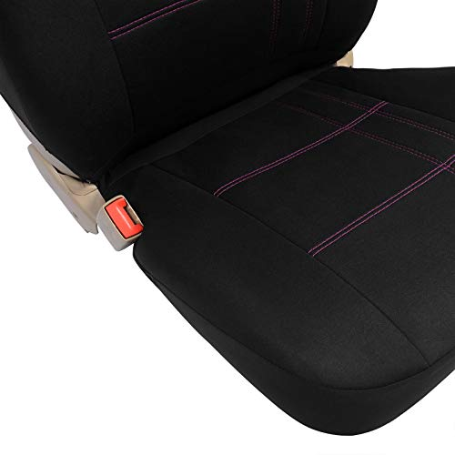 Pet Negro//Rosa 0025QCZT EUGAD Juego de 5 Funda Asiento para Coche Universal Delantero y Traseros Cubre de Asiento Autom/óvil sin Airbag Espuma de 3mm