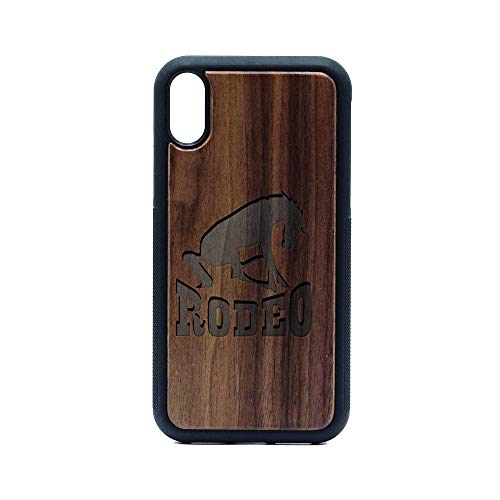 (Rodeo - iPhone XR CASE - Walnut Premium Slim & Lightweight Traveler Wooden Protective Phone CASE - Unique, Stylish & ECO-Friendly - Designed for iPhone XR)
