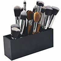 Cosmetic Makeup Brush Holder - FLYMEI Premium Quality Makeup Organizer Acrylic Cosmetics Brushes Storage