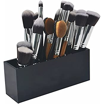 vencer makeup brush holder organizer 3 slot acrylic cosmetics brushes storage. Black Bedroom Furniture Sets. Home Design Ideas