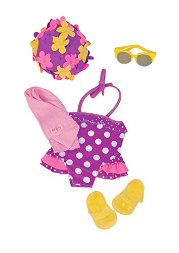 Our Generation Beach Keen Retro Swimsuit Outfit for 18-Inch Dolls