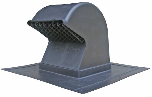 Speedi-Products EX-RCG 48 4-Inch to 8-Inch Diameter Plastic Gooseneck Roof Cap, Black