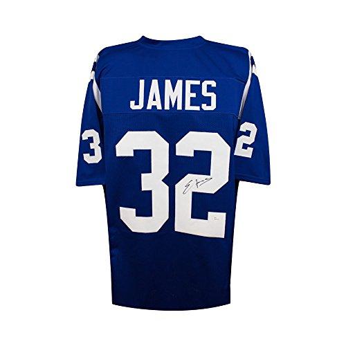 Edgerrin James Autographed Indianapolis Colts Custom Blue Football Jersey - JSA