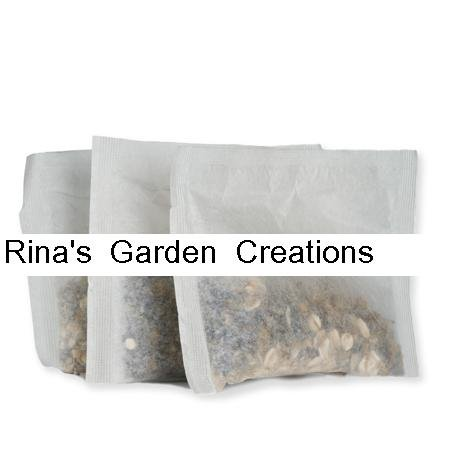"Rina's Garden Heat Sealable Empty Tea Filter Bags - 4"" x 5"" - 500 Bulk"