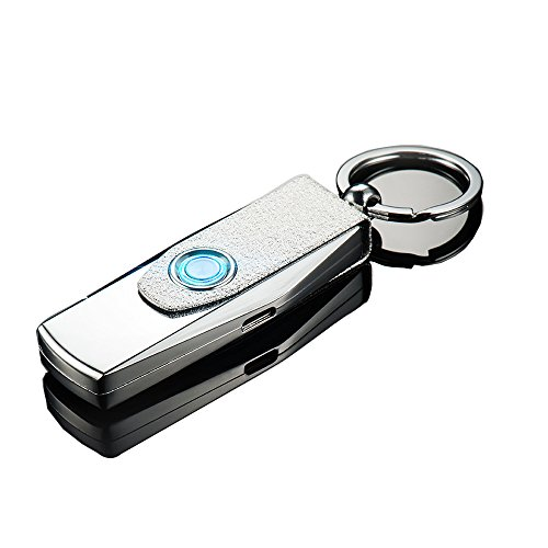 Oiikury 2-in-1 Car Keychain Keyring USB Rechargeable Wind...