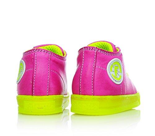FALCOTTO - Chaussure fuchsia à lacets, en cuir, bébé (fille)