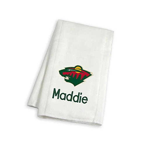 Designs by Chad and Jake Baby Personalized Minnesota Wild Burp Cloth One Size ()
