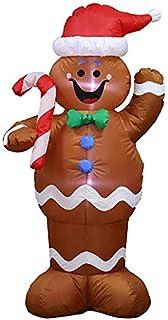 Oyria - Muñeco de Nieve Hinchable de Navidad con bastón de ...