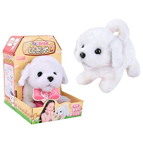 (Electric Plush Toys Stuffed Animal Barking Dog Walking Pet Musical Developmental Toy for Kids Girl Boy Gift 13x18.5x18.5cm)