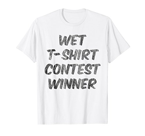White Wet T-Shirt Contest Winner (Wet Tshirt Winner)