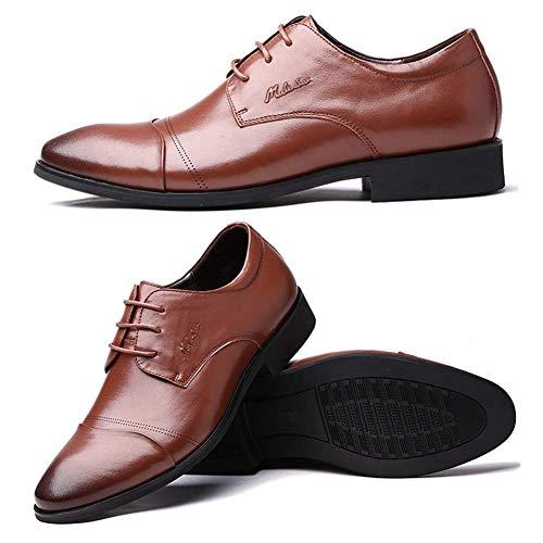 tamaño Cordones Ocasionales 6 US de de Vestir Hombres HhGold para para Color de de Cuero para Hombres para 5 de Zapatos Cuero Hombres Hombres Zapatos de Zapatos Marrón UK Marrón 5 Negocios Derby 5 qwpUwOFx