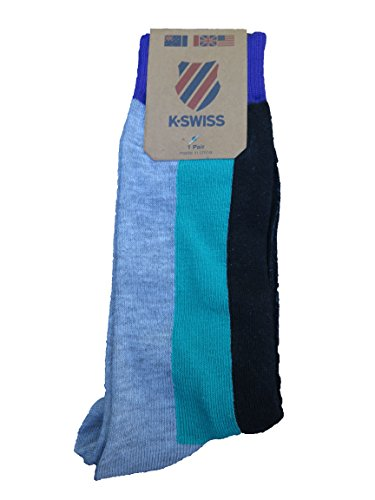 K Swiss Retro Style Mens Socks Purple/Grey/Black/Teal Size Large K-swiss Accessories