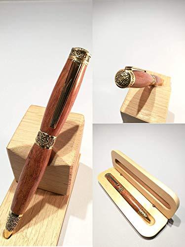 Pluma de madera Bubinga: tracería, regalo ideal para el día ...