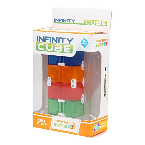 infinity cube amazon. amazon.com: fantastic zone infinity cube pressure reduction toy - spin edc fidget toy, killing time infinite for add, adhd, anxiety, amazon n