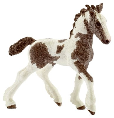 Schleich 13774 Tinker Foal Figurine, Brown & White
