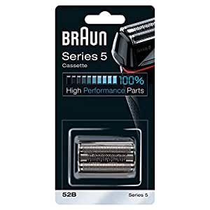 Braun 52B Series 5 Electric Shaver Replacement Foil And Cassette Cartridge - Black (COM52B)