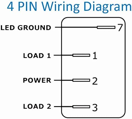 U S Solid 4 Pin Marine Grade On Off On Open Close In Out Momentary Rocker Switch With Blue Led Light And Etched Arrow Symbols Dc 12v 20a 24v 10a From Toggle Amazon Canada
