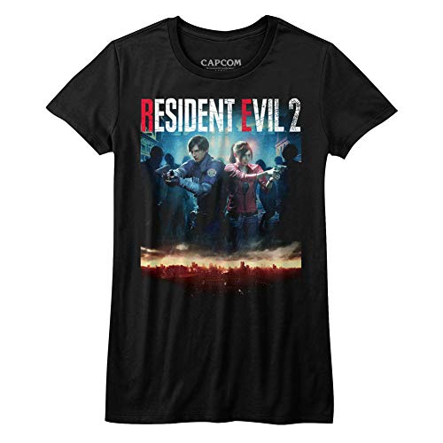 Resident Evil Horror SyFy Film Video Game Re2Make Cover Juniors T-Shirt Tee