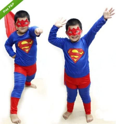 Nuevo traje de Superman para niños fiesta de disfraz de superhéroe ...