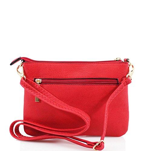 Shoulder Elegant Wristlet Small Pocket Long Multi Purse Fashion Ladies Strap Navy Bags Zip SvqrSCw