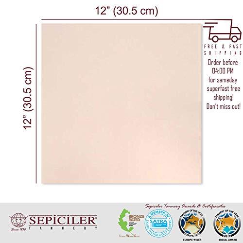 Sepici Leather   Veg-Tanned, 7/9 Oz. (2.8-3.6 mm) Natural 12