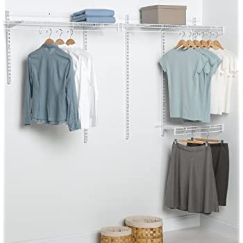 closet installing kits parts rubbermaid a system with organizer also