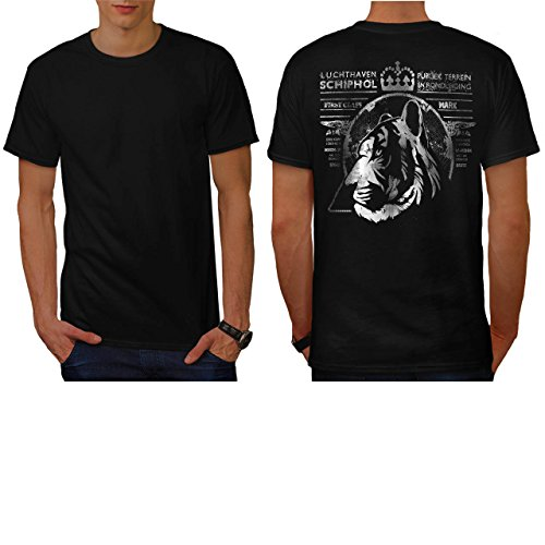 Hound Postage (Tiger Postal Stamp Postage First Men NEW L T-shirt Back |)