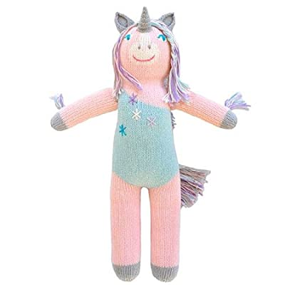 Blabla Doll - Confetti The Unicorn - Versatile Doll - Size: 18 inches, Recommended Age: 0+, Material: 100% Cotton, Hand-knit, 100% Safety Tested: Dyes are approved for health and safety assurance : Baby