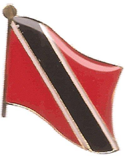 Pack of 3 Trinidad and Tobago Single Flag Lapel Pins, Trinidad and Toboggan Pin Badge