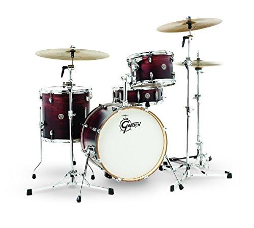 Gretsch-Catalina-Jazz-4-Piece-Drum-Kit-with-Hardware-Satin-Antique-Fade