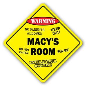 MACY'S ROOM Sticker Sign kids bedroom decor door children's name boy girl - Macy Lane