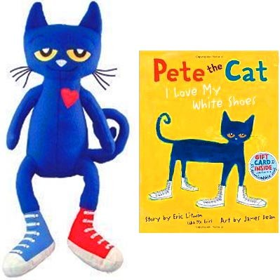 Pete the Cat hardcover book & 14.5
