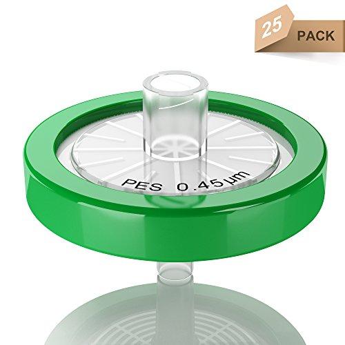 Syringe Filters PES 25 mm 0.45 um Non Sterile 25/pk by KS-Tek by KS-Tek