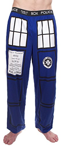 Doctor Who TARDIS Royal Blue Lounge Pants (Adult Medium)