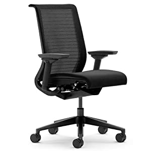 steelcase think 3d mesh fabric chair licorice. Black Bedroom Furniture Sets. Home Design Ideas