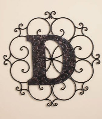 """Personalized Letter """"D"""" Metal Wall Art - Great Gift!"""