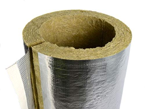 Rockwool Foil Faced Pipe Insulation 54mm Bore 20mm Thick - 1 metre section