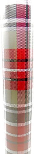 Christmas Gift Wrap,Emojis or Peanuts or Plaid (Red/Gray/Green Plaid, 110 Sq.Ft.) Made in USA