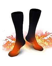 Verwarmde sokken voor heren en dames, elektrische verwarmde sokken, winter, warme katoenen sokken voor outdoor, sport, camping, vissen, fietsen, motorrijden, skaten en skiën