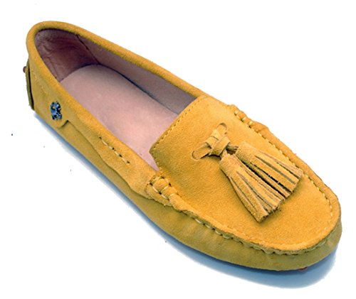 LL STUDIO Womens Casual Slip On Tassel Seude/Leather Driving Moccasins Loafers Boat Shoes