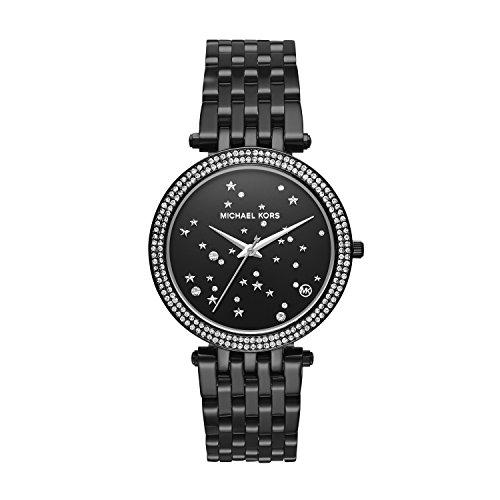 Michael Kors Women's 'Darci' Quartz Stainless Steel Casual Watch, Color:Black (Model: MK3787)
