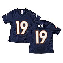 Denver Broncos NFL Eddie Royal #19 Women's Dazzle Jersey, Navy (Large)