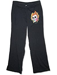 Metallica Skull Flame Ladies Black Yoga Sweat Pants