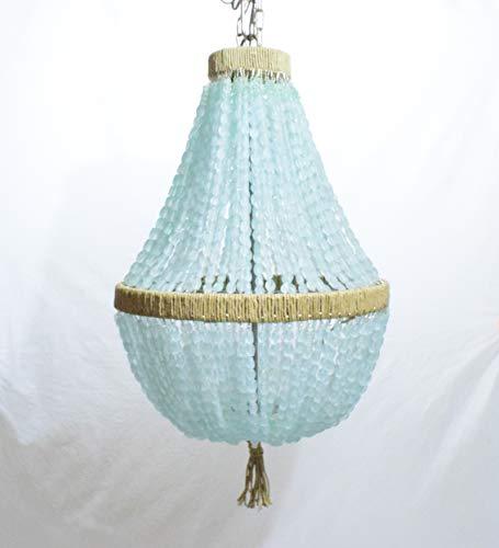 Sea Glass Chandelier - Celeste - Sea Glass Empire Chandelier Nuggets