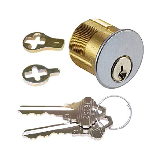Mortise Lock Cylinder & Keys, 1-1/8