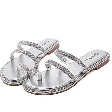 Zormey Zapatos De Mujer Talón Plano Zapatillas Zapatillas Casual Negro / Plata US5 / EU35 / UK3 / CN34