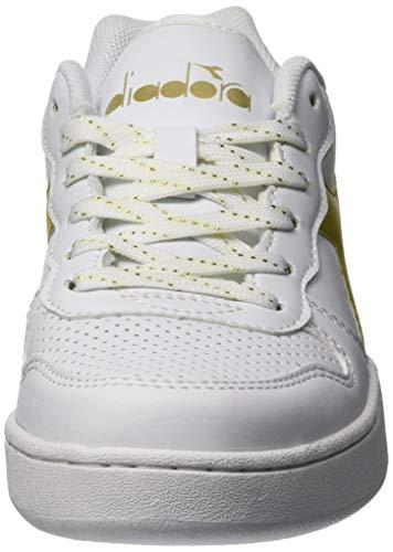 De oro C1070 Diadora Gymnastique Chaussures Playground Wn Multicolore Femme bianco wAgvtqg