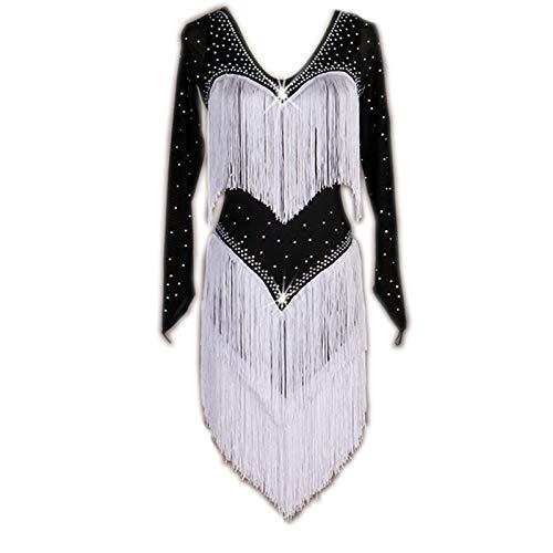 日本最大の garuda 長袖 B07QLJ54KF 社交ダンス衣装 レディースダンスドレス 社交ダンス garuda ラテン競技衣装 セミオーダー 石飾り 長袖 B07QLJ54KF 黒白,Large, BB-FACTORY:fbc5c8b3 --- a0267596.xsph.ru
